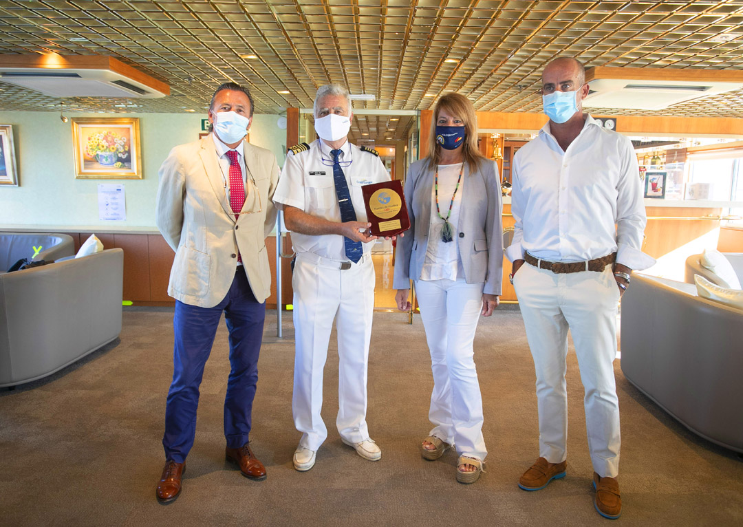 First cruise ship in Spain during the state of alarm
