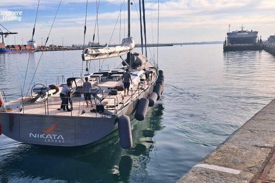 "Lamaignere Shipping coordinates the yacht ""Nikata London"" in Cadiz"