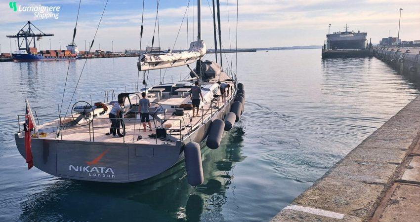 Lamaignere Shipping coordinates Nikata London´s stay in Cadiz