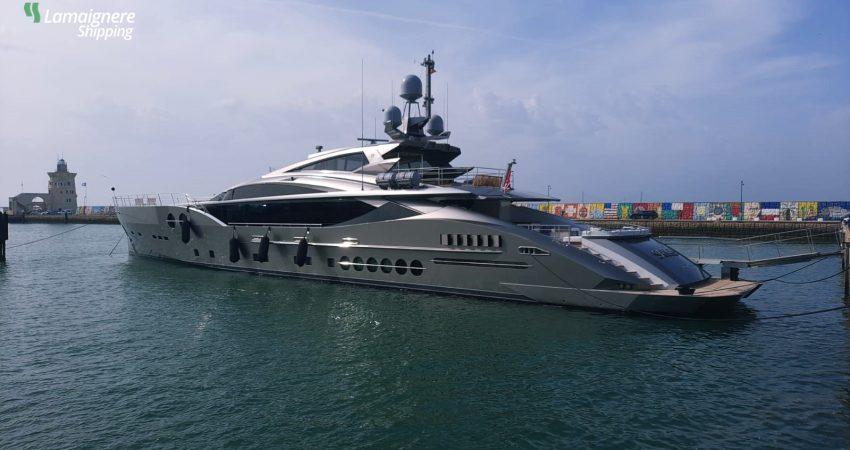 "Coordination of the superyacht ""Sanam"" operations at Puerto Sherry (Cadiz)"