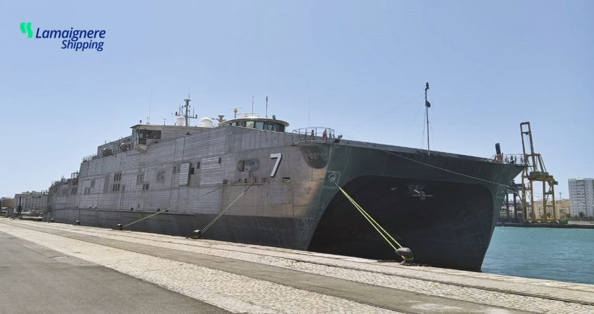 Lamaignere Shipping coordinates yet another military ship in Cadiz