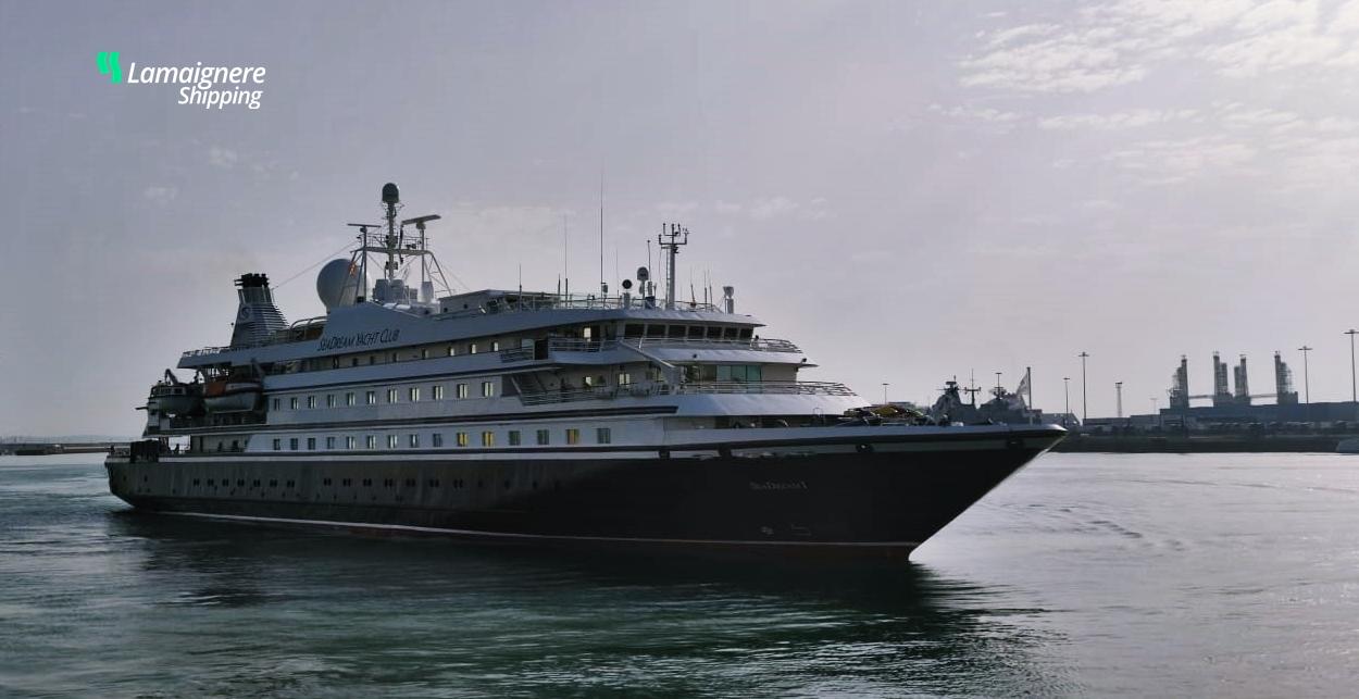 "Lamaignere Shipping coordinates the operations of ""Sea Dream"", a megayacht, in Cadiz"