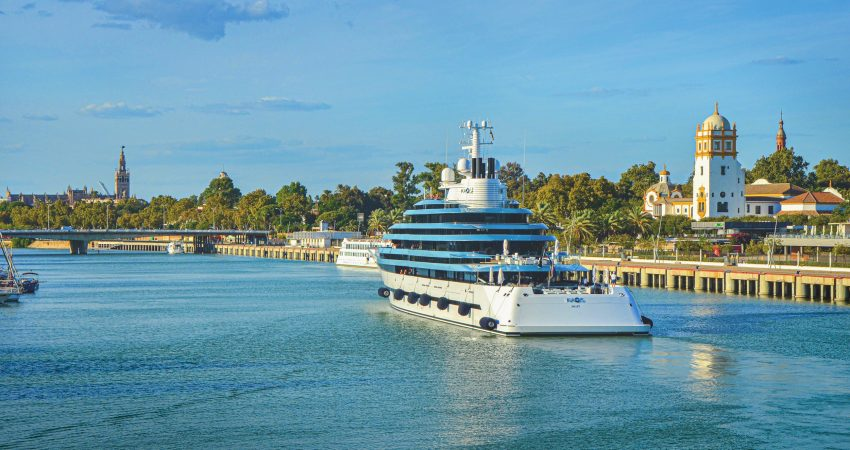 Lamaignere Shipping initiated collaboration with the Port of Seville to increase the visits of mega yachts and cruises