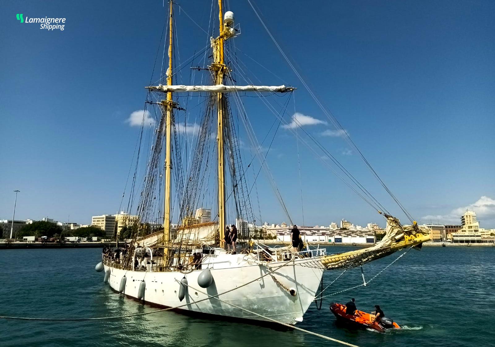 The Swedish training ship Galan´s stopover at the port of Cadiz